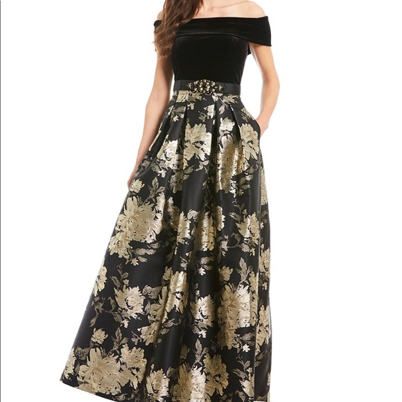 Eliza J Dresses | Formal Gown Black And Gold